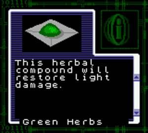 Green herbs Resident Evil Gaiden