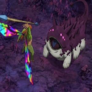 Fairy King Dahlia kills demon monster The Seven Deadly Sins: Cursed By Light