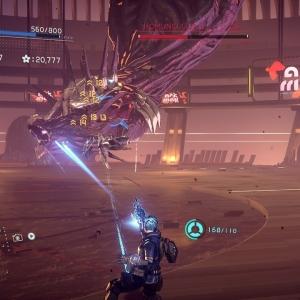 Homunculus α boss battle Astral Chain Nintendo Switch