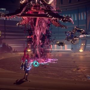 Boss battle Homunculus α Astral Chain Nintendo Switch