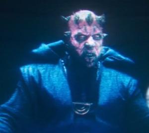 Darth Maul talking with Qi'ra Solo star Wars
