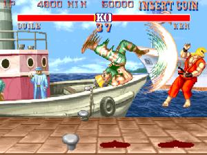 Guile kicking ken Street fighter II Capcom snes arcade sefa genesis