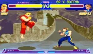Ken vs Chun-Li Street Fighter Alpha PS1