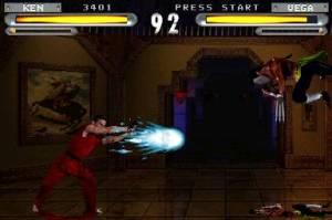 Ken vs Vega Street Fighter: The Movie the game PS1