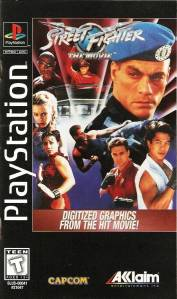 Street Fighter: The Movie the game PS1 boxart