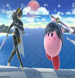 Kirby as Chrom super Smash Bros ultimate Nintendo Switch fire Emblem