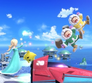 Rosalina and Luma vs ice climbers popo and nana Big Blue Stage super Smash Bros ultimate Nintendo Switch F-Zero