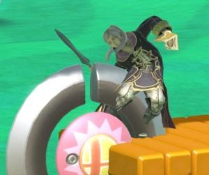 Robin hit by bumper item super Smash Bros ultimate Nintendo Switch