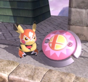 Pikachu Libre and bumper item super Smash Bros ultimate Nintendo Switch