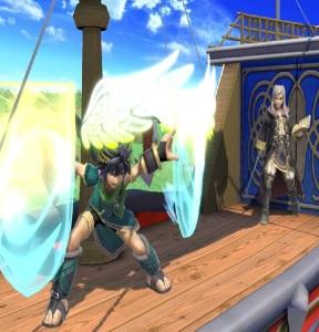 Dark pit using shields super Smash Bros ultimate Nintendo Switch