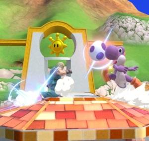 Ken vs Yoshi Delfino Plaza Stage super Smash Bros ultimate Nintendo Switch super Mario Sunshine