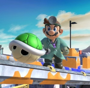 Green shell super Smash Bros ultimate Nintendo Switch
