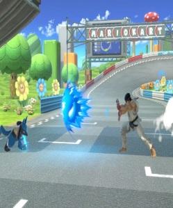 Lucario vs ryu Figure-8 Circuit Stage super Smash Bros ultimate Nintendo Switch