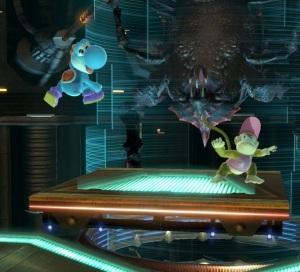 Yoshi vs Diddy Kong Frigate Orpheon Stage super Smash Bros ultimate Nintendo Switch Metroid