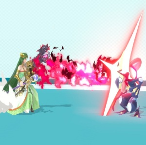 Palutena firing Rage Blaster super Smash Bros ultimate Nintendo Switch