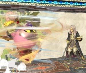 Meta knight using tornado against Robin super Smash Bros ultimate Nintendo Switch