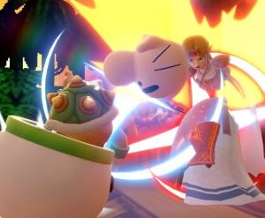 Princess Zelda hit by Mr. Saturn item super Smash Bros ultimate Nintendo Switch