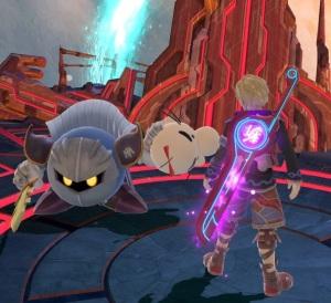 Meta knight holding Mr. Saturn item super Smash Bros ultimate Nintendo Switch