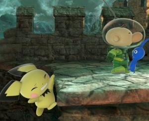 Pichu holding onto ledge Super Smash Bros ultimate Nintendo Switch