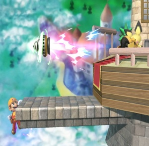 Pichu firing Drill item super Smash Bros ultimate Nintendo Switch