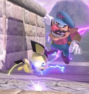 Pichu shocks Wario Super Smash Bros ultimate Nintendo Switch