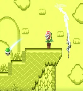 Zero suit Samus dodging Green shell super Smash Bros ultimate Nintendo Switch