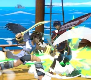 Pit vs Marth Super Smash Bros ultimate Nintendo Switch kid Icarus