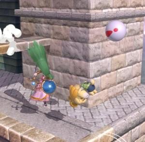 Isabelle dodging Pitfall item super Smash Bros ultimate Nintendo Switch animal crossing