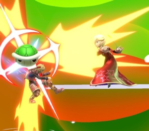Rosalina throwing Green shell super Smash Bros ultimate Nintendo Switch