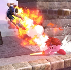Kirby as Roy Super Smash Bros ultimate Nintendo Switch fire Emblem