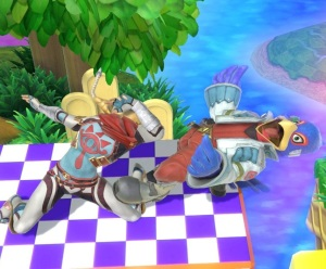 Sheik knocks out Falco Super Smash Bros ultimate Nintendo Switch