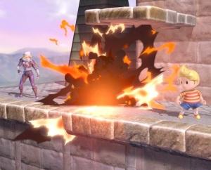 Sheik throws explosive at Lucas Super Smash Bros ultimate Nintendo Switch