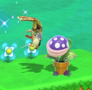 Sheik fighting piranha plant Super Smash Bros ultimate Nintendo Switch