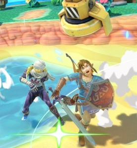 Link hit by Drill item super Smash Bros ultimate Nintendo Switch