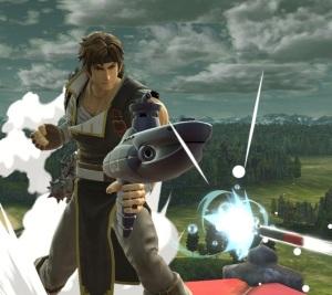 Richter Belmont firing Steel Diver item Super Smash Bros ultimate Nintendo Switch