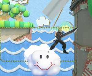 Cloud on a cloud Yoshi's Story Stage super Smash Bros ultimate Nintendo Switch